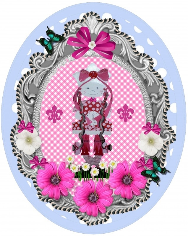Sticker voor meisje 25 bij 20 cm.