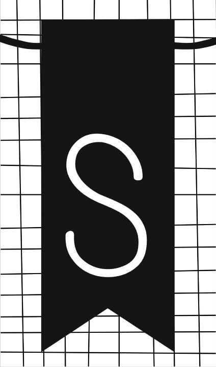klein kaartje met letter S