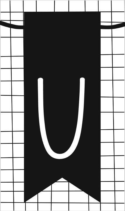 klein kaartje met letter U
