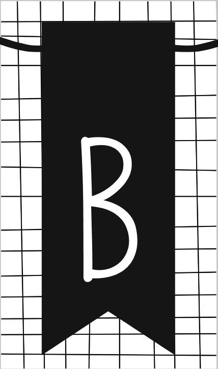 klein kaartje met letter B