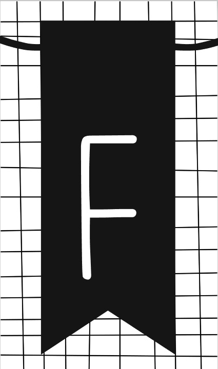 klein kaartje met letter F
