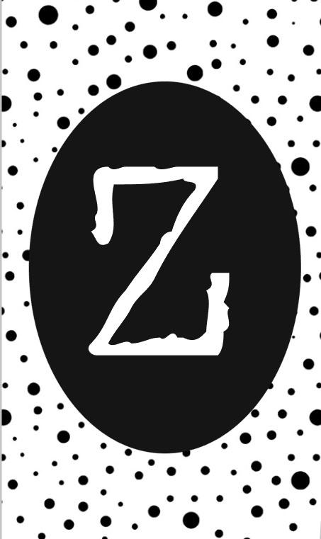 klein kaartje met letter Z.