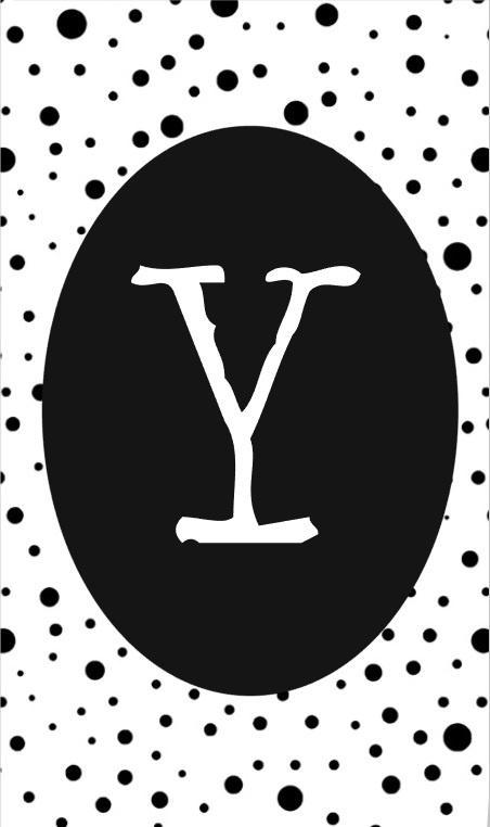 klein kaartje met letter Y.