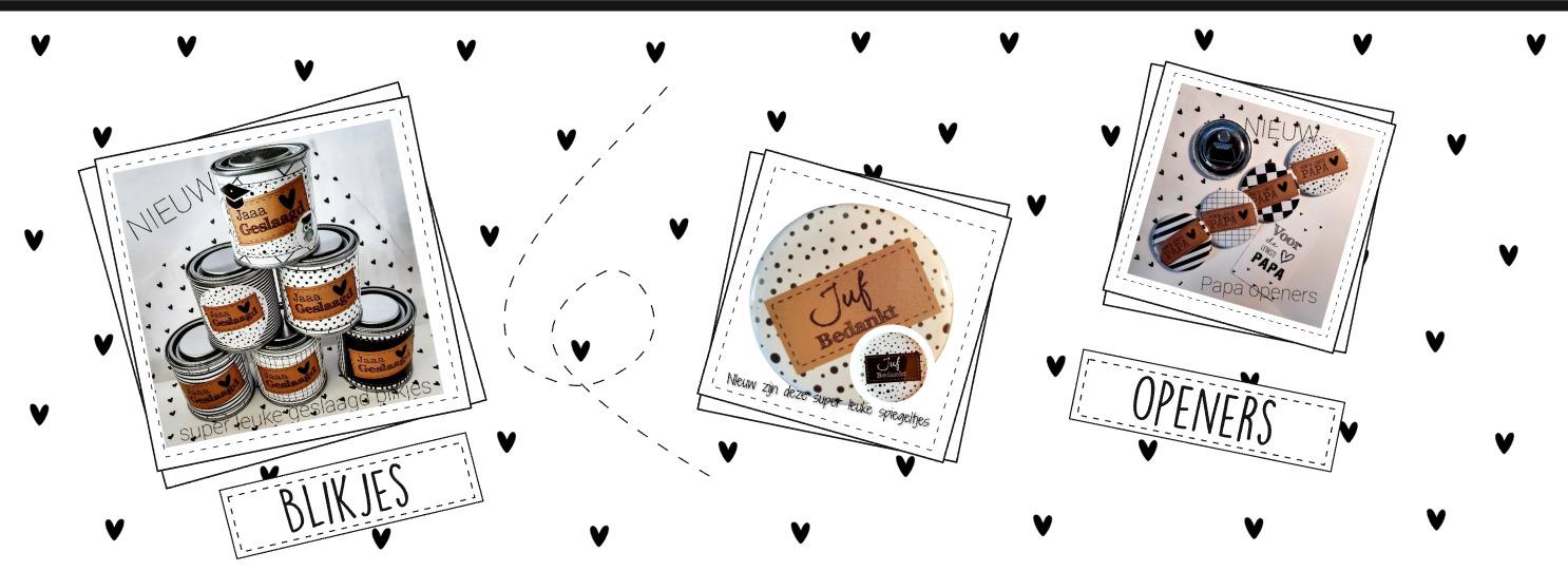 Home openers spiegeltjes buttons kaarten kleine kaartjes bedrukkingen