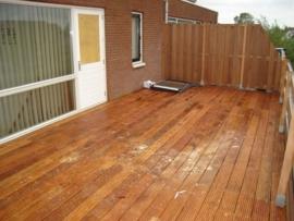 dak terras hardhout op maat gemaakt
