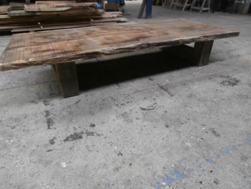 Old-Look massief eiken salontafel