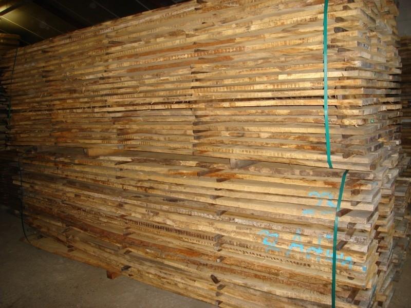 Eiken hout ruw niet geschaafd diverse maten op voorraad