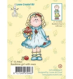 Leane Clear Stamp - Bambinie boy with rose
