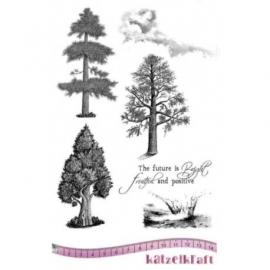 KatzelKraft rubberstempel KTZ135 Trees