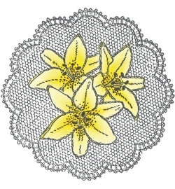 MD Cling Stamp Lilies TC0831