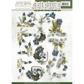 3D Knipvel - Precious Marieke - Fantastic Flowers - Blue Grapes CD10858