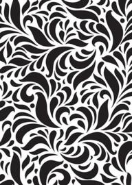 Mixed media plastic - stencil A5 size swirls NMMS004