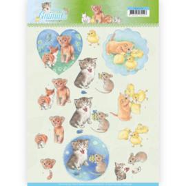 CD11274 3D knipvel - Jeanine's Art - Young Animals - Kittens