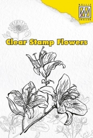 NS Clear stamps flowers Lily FLO003