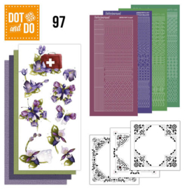Dot & Do  97 Purple flowers