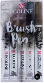 Ecoline Brush pen set 5 Grey