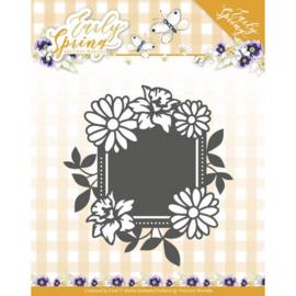 Precious Marieke Spring Flowers Square label snijmal PM10113