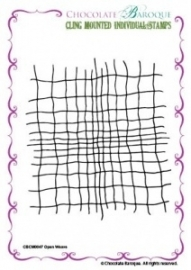 Open Weave cling mounted rubber stamp 047