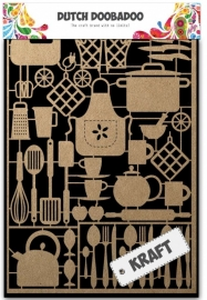 Dutch Doobadoo Dutch Paper Art Kraft - Kitchenware A5 479.002.004