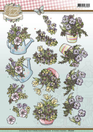 3D Knipvel - Yvonne Creations - Spring-tastic - Spring flowers  CD10818