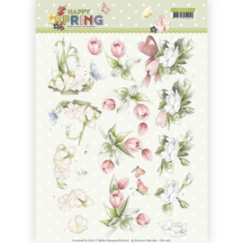3D Knipvel - Precious Marieke -Happy Spring Flowers CD11265