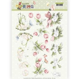 3D Knipvel - Precious Marieke  Happy Spring Flowersn CD11265