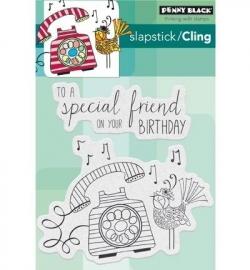 Penny Black Clingstamp Birthday tweetings 40431