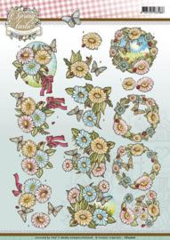 3D Knipvel - Yvonne Creations - Spring-tastic - Flowers  CD10816