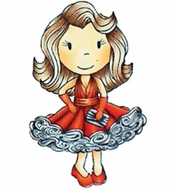 Paper Nest Dolls  Rubber Stamps - Miss Hollywood PND1169