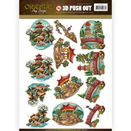 3D puch-out Oriental SB10249