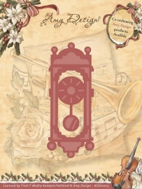Amy Design snij en embosmal  Old-Fasioned Clock