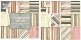 Joy! Paper bloc Vintage wood 30.5 x 30.5 cm 6011/0702