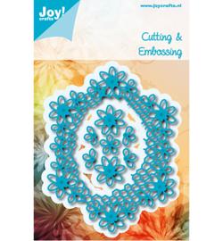 Joy! Snijmal Ovaal met bloemen 6002/0975