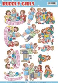 3D knipvel - Yvonne Creations - Bubbly Girls - crafting Girls CD11161
