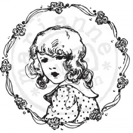 Cling stamps Flower girl CS0848