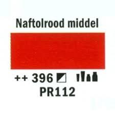 Amsterdam Acrylverf 120ml 396 Naftal rood middel