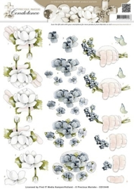 3D Knipvel - Precious Marieke - Condoleance - Deepest Sympathy Color CD10449