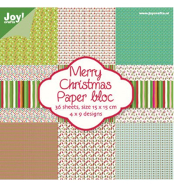 Joy! Paper bloc Merry Christmas 6011/0018