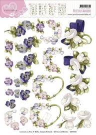 3D Knipvel - Precious Marieke - Romance - Flowers CD10525