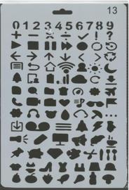 Sjabloon cijfers en pictogrammen 13