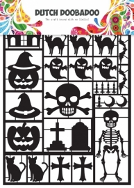 Dutch Paper Art black Halloween - A5 472950001