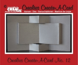Crealies Create A Card no. 12 stans voor kaart CCAC12 / 13,5 cm x 27 cm