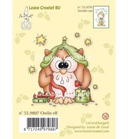 Leane Creatief  Clear Stamp - Owlie elf 55 9807