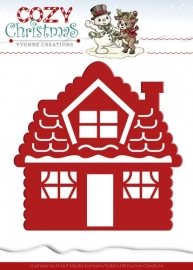 Die - Yvonne Creations - Cozy Christmas - Gingerbread House YCD10034