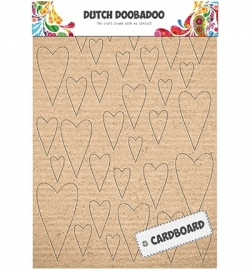 Dutch Cardboard Art Hearts 472309003