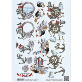 3D Knipvel - Amy Design - Maritime - Zee elementen CD10879