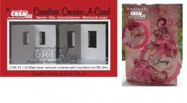 Crealies Create A Card no. 2 stans voor kaart CCAC02 / 10,5 cm x 29,8 cm