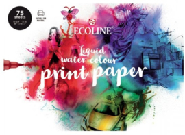 Ecoline Liquid water colour printpaper  A4 75 vellen