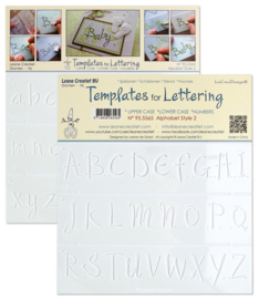 2 Templates for Handlettering Alphabet style 2, LC95.5565