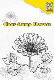 NS Clear stamps flowers Marguerite FLO002